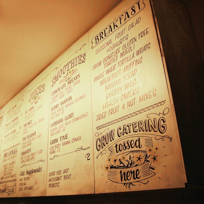 Interior Design for Mordeo Grow Salad Bar in Sydney CBD