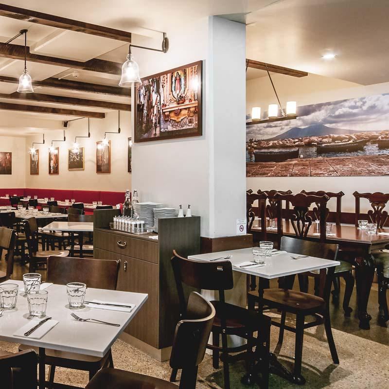 Interior Design for De Vita Trattoria in Manly