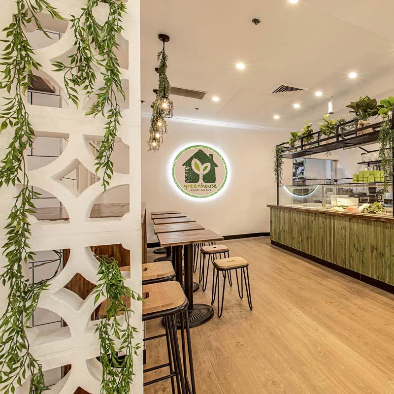 Interior Design for Greenhouse Salad Bar in Edgecliff