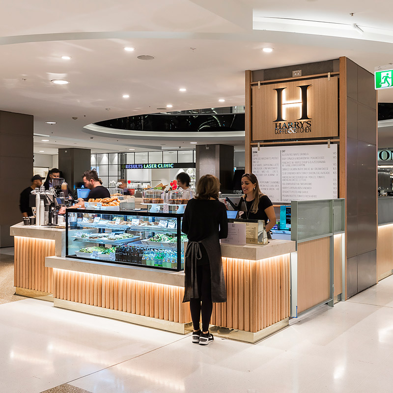 Interior Design for Harrys Coffee and Kitchen in Bondi Junction