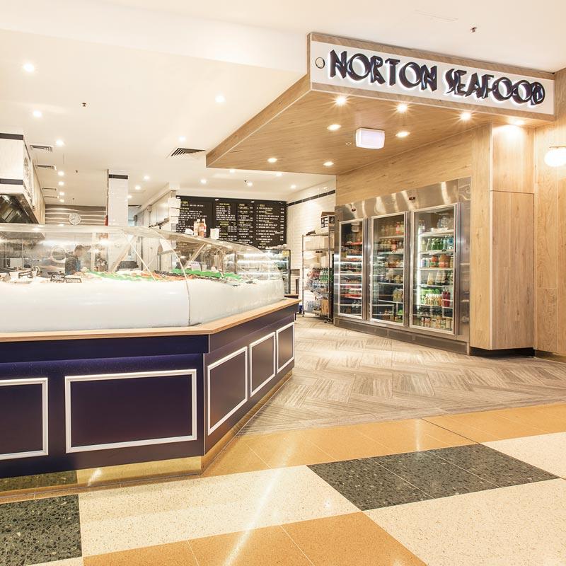Interior Design for Norton Seafood in Leichhardt