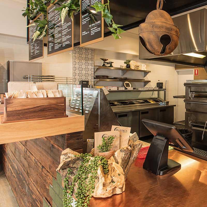 Interior Design for Rustica Pizza Bar in Sylvania Waters